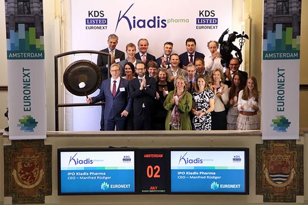 Beursnotering biotechbedrijf Kiadis Pharma