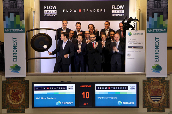 Handelsbedrijf Flow Traders naar de beurs