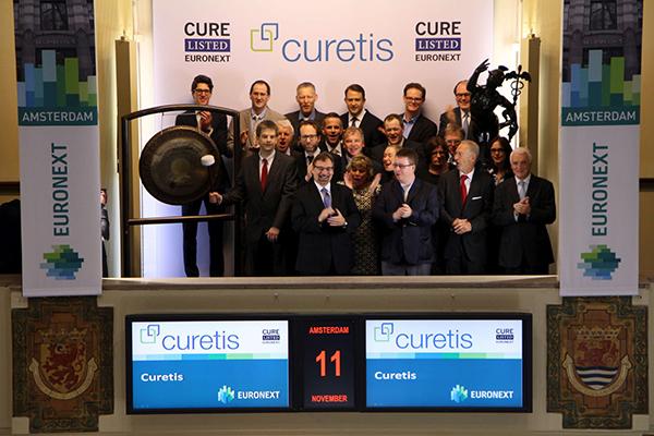 Biotechbedrijf Curetis krijgt notering op de Amsterdamse beurs 11 november 2015