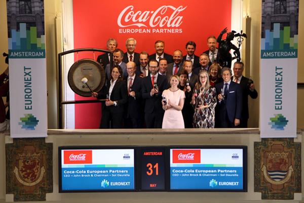 Coca-Cola European Partners naar Amsterdamse beurs