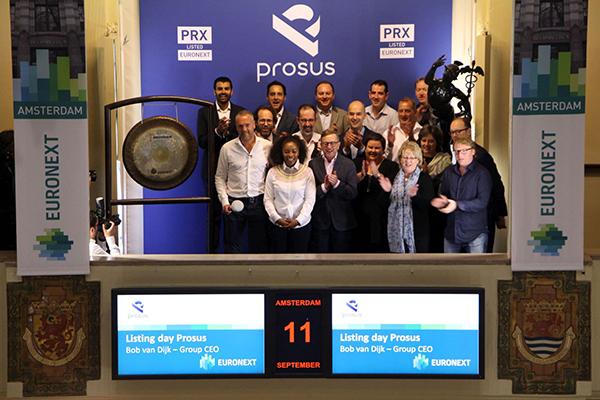 Media- en technologiebedrijf Naspers gaat onder naam Prosus naar de beurs